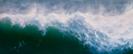 Wave, oil on canvas